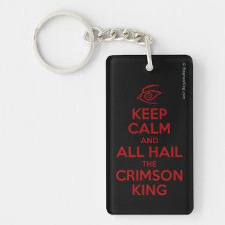 Keep Calm with the Crimson King Single-Sided Rectangular Acrylic Keychain