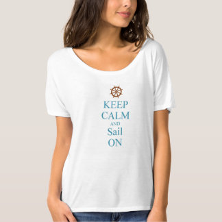 KEEP CALM WOMENS NAUTICAL SAIL T-SHIRT