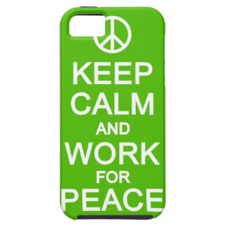 Keep Calm & Work For Peace iPhone 5 Case-Mate iPhone 5 Covers