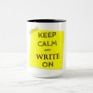 KEEP CALM & WRITE ON MUG