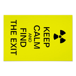 Keep calm yellow punk poster radioactive sign