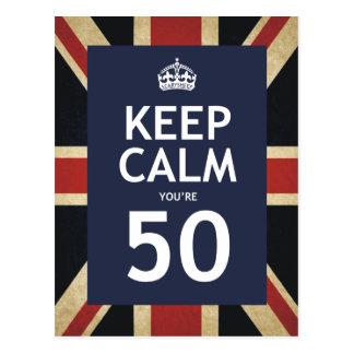 Keep Calm You're 50 Postcards