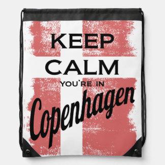 Keep Calm, You're in Copenhagen Drawstring Bag