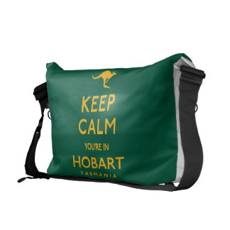 Keep Calm You're in Hobart! Messenger Bag