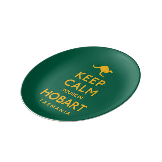 Keep Calm You're in Hobart! Plate