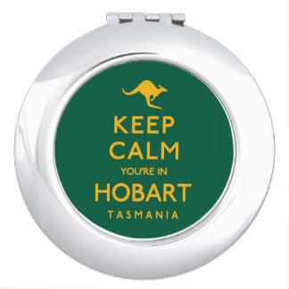 Keep Calm You're in Hobart! Vanity Mirror