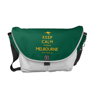 Keep Calm You're in Melbourne! Courier Bags