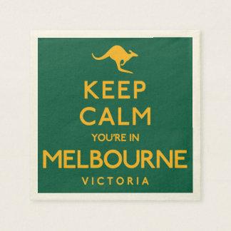 Keep Calm You're in Melbourne! Disposable Napkin