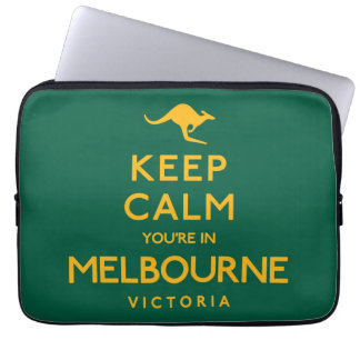Keep Calm You're in Melbourne! Laptop Sleeve