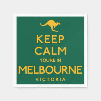 Keep Calm You're in Melbourne! Paper Napkin