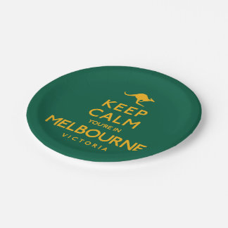Keep Calm You're in Melbourne! Paper Plate