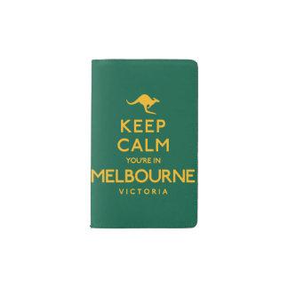 Keep Calm You're in Melbourne! Pocket Moleskine Notebook