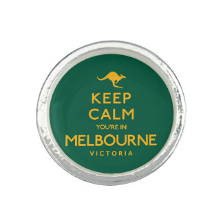 Keep Calm You're in Melbourne! Rings