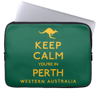 Keep Calm You're in Perth! Laptop Sleeve