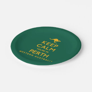 Keep Calm You're in Perth! Paper Plate