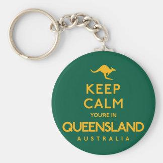 Keep Calm You're in Queensland! Basic Round Button Keychain