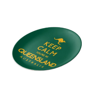 Keep Calm You're in Queensland! Plate