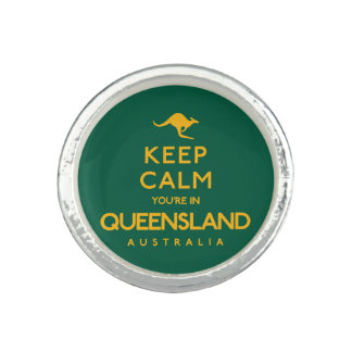 Keep Calm You're in Queensland! Ring