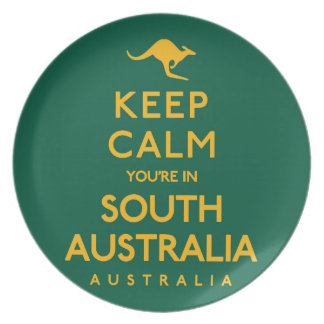 Keep Calm You're in South Australia! Dinner Plate