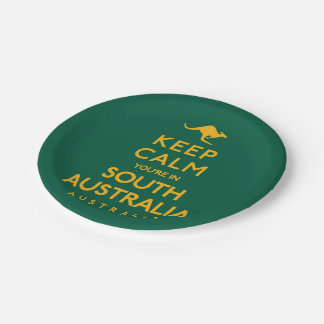 Keep Calm You're in South Australia! Paper Plate