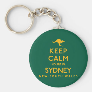 Keep Calm You're in Sydney! Basic Round Button Keychain