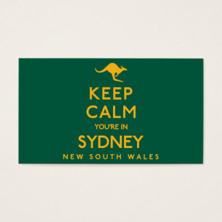 Keep Calm You're in Sydney! Business Card
