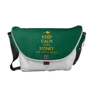 Keep Calm You're in Sydney! Messenger Bags