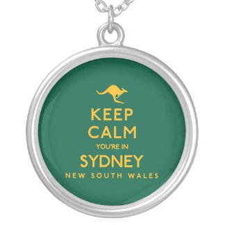Keep Calm You're in Sydney! Silver Plated Necklace