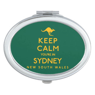 Keep Calm You're in Sydney! Travel Mirror