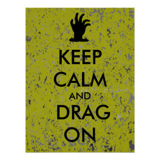 Keep Calm Zombie Hand Poster Custom Text Color