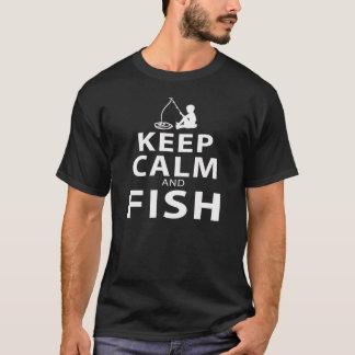 KEEP CALMAND FISH T-SHIRT