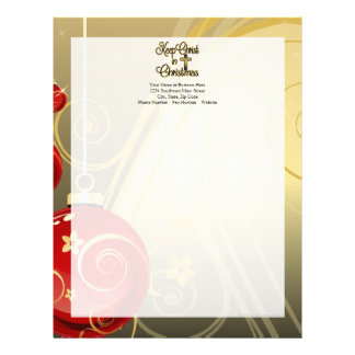 Keep Christ in Christmas, Gold/Red Christian Letterhead