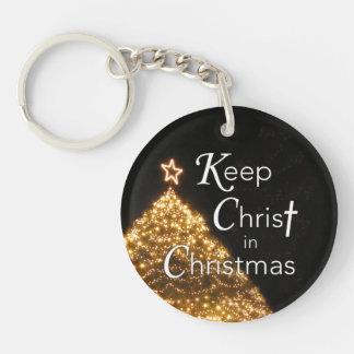 Keep Christ in Christmas Keychain, Customizable Keychain