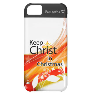 Keep Christ in Christmas, Swirl Cover For iPhone 5C