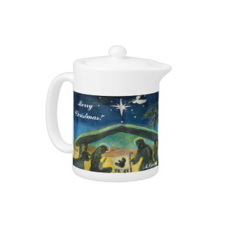 Keep Christ In Christmas Tea Pot