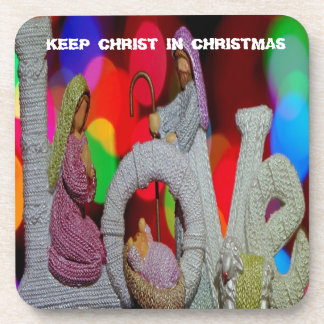 Keep Christ n Christmas with the Nativity and Love Coaster