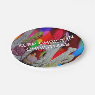 Keep Christ n Christmas with the Nativity and Love Paper Plate
