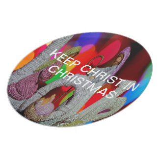 Keep Christ n Christmas with the Nativity and Love Plate