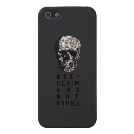 Keep claim and not drugs Skull Graphic (Hue) iPhone 5 Cases