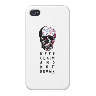 Keep claim and not drugs Skull Graphic iPhone 4 Covers