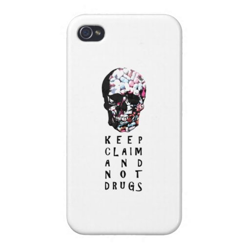 Keep claim and not drugs Skull Graphic iPhone 4/4S Cover