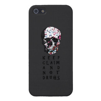 Keep claim and not drugs Skull Graphic iPhone 5 Cases