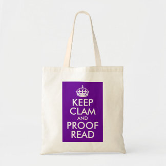 Keep Clam and Proof Read Tote Bag
