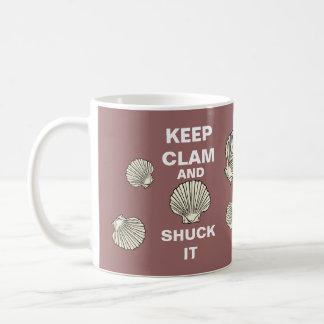 Keep Clam and Shuck It Mug