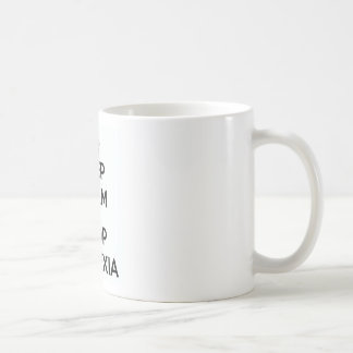 Keep Clam and Stop Dyslexia Coffee Mug