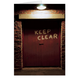 Keep Clear Card