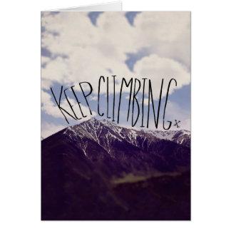 Keep Climbing Card