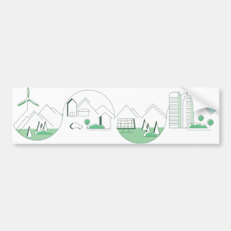 Keep Colorado Green Wide Bumper Sticker