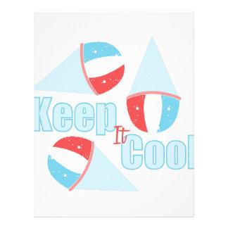 Keep Cool Custom Letterhead