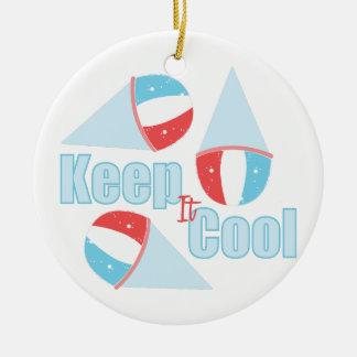 Keep Cool Round Ceramic Ornament
